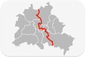 Berliner Mauer Karte Sehensurdigkeit Berlinstadtservice