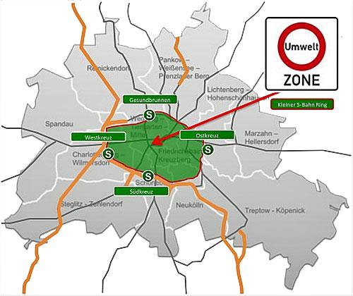 umweltzone berlin karte Berlin   Umweltzone   Berlinstadtservice
