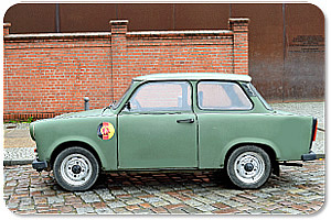 Vehicle (Trabant) of the border troops of the GDR