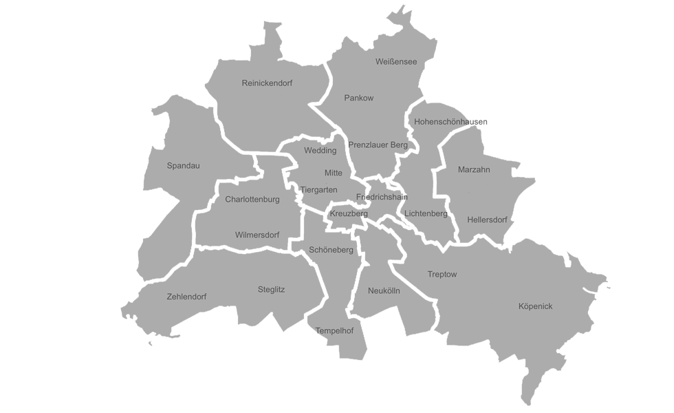 Restaurants in Berlin nach Bezirk